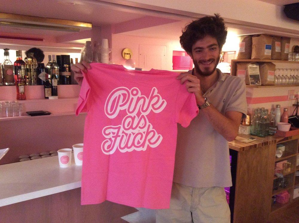 Pietro Nolita Pink as Fuck t-shirt pink restaurant