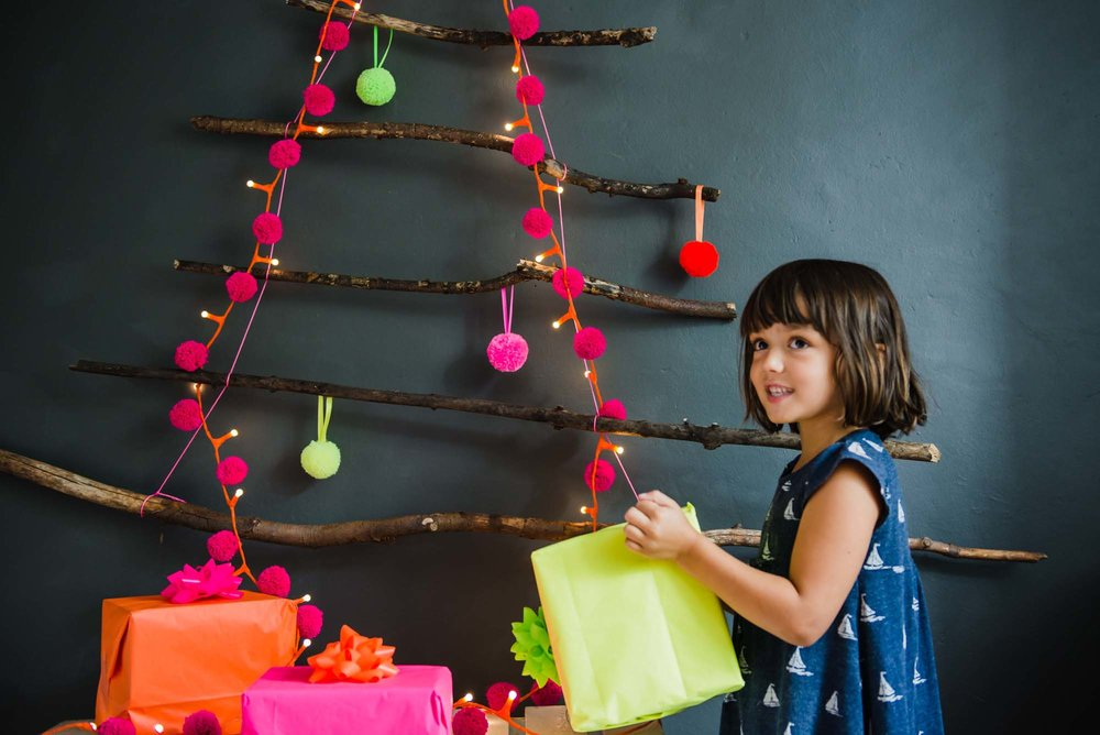 Pom Pom Galore's neon Christmas baubles