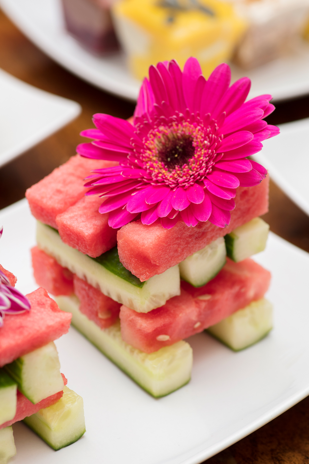 Watermelon and cucumber jenga/Photo: Susie Lowe