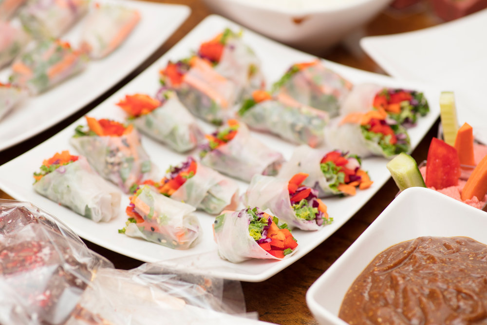 Fresh veggie spring rolls/ Photo: Susie Lowe