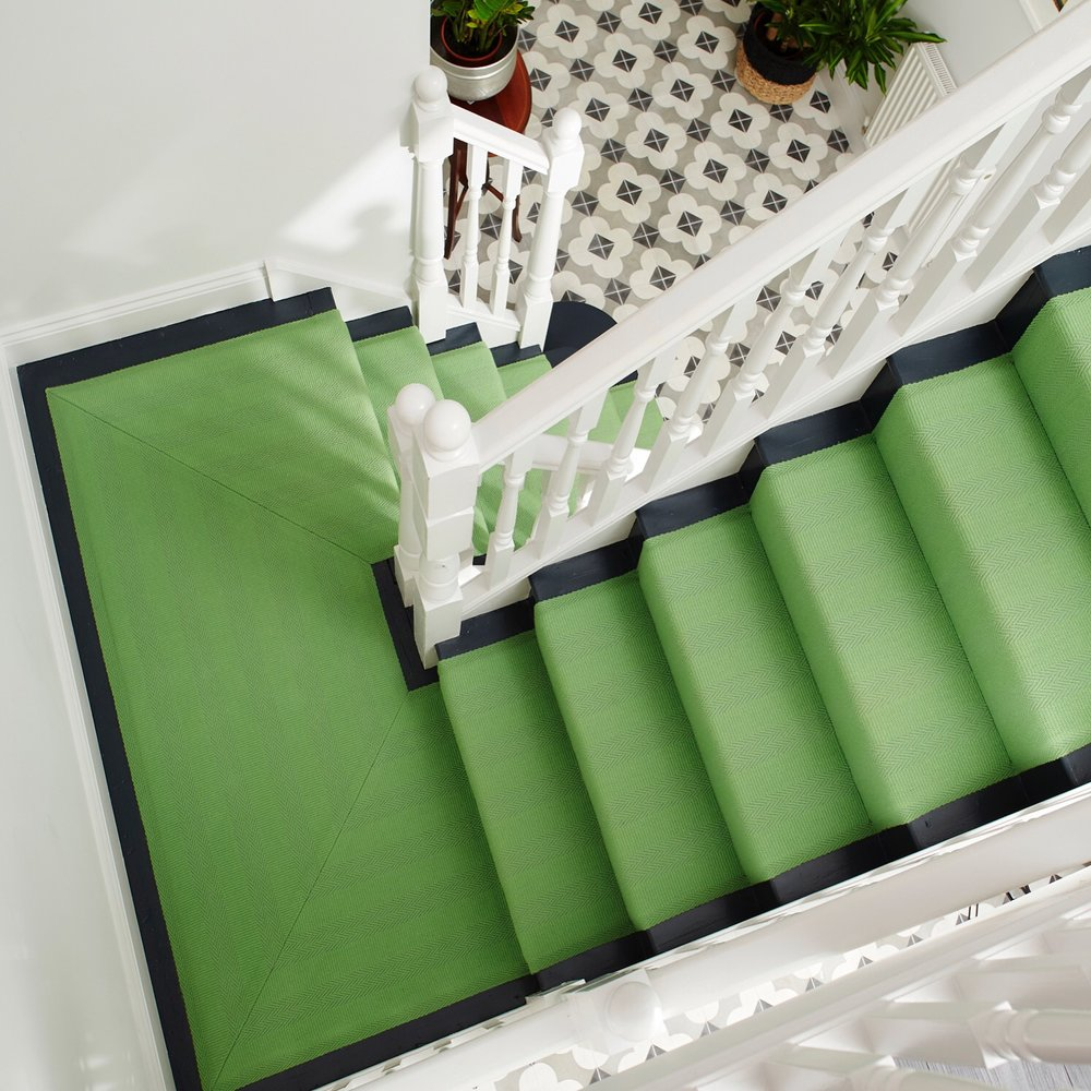 Life's too short not to have an amazing green stair carpet like Erica's
