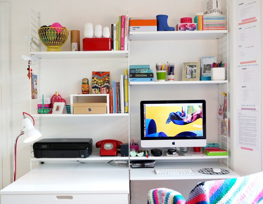 Mimi's colourful home office