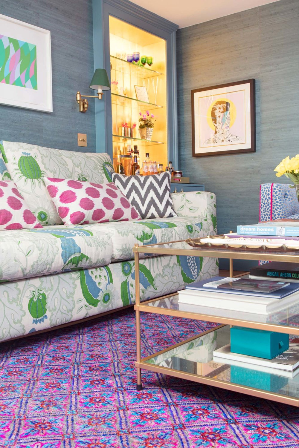 Wendy Morrison Design 'Govind' rug in The Pink House Den/Photo: Susie Lowe