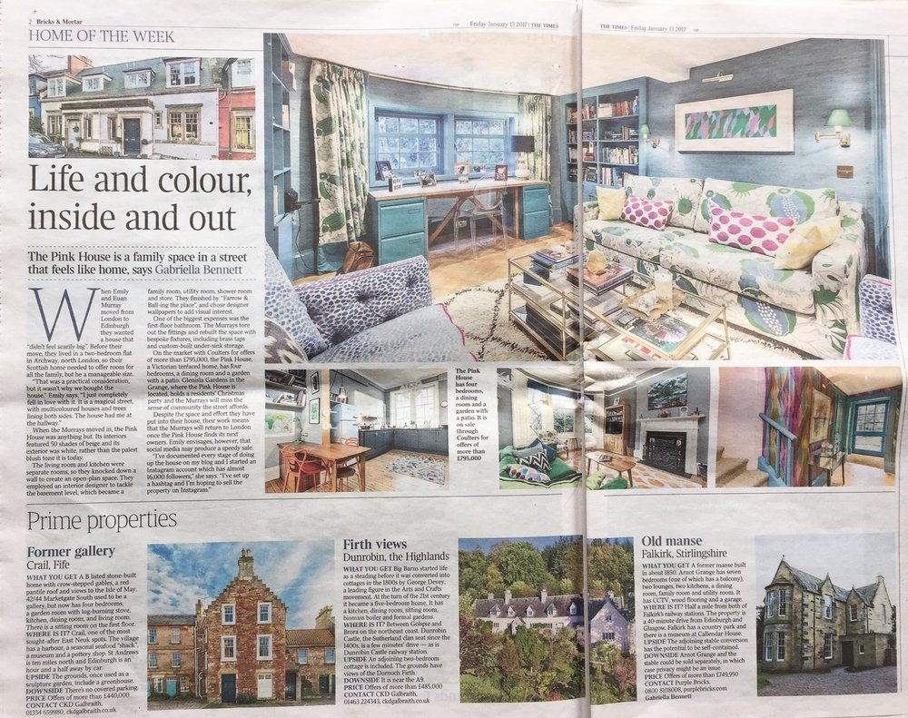 The Pink House's Emily Murray in The Times