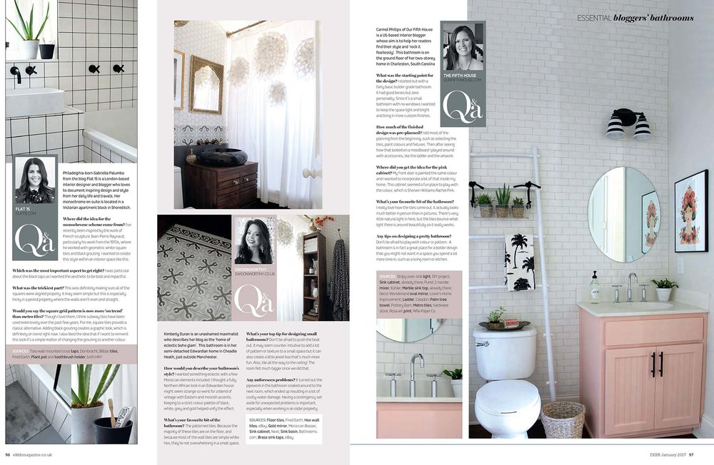 Interior bloggers bathrooms SwoonWorthy and The Fifth House