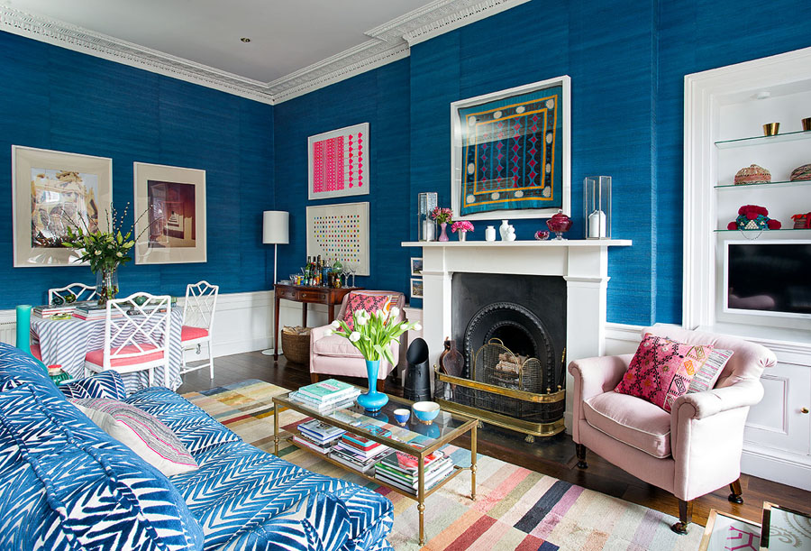 Pink and blue - a match made in interior heaven