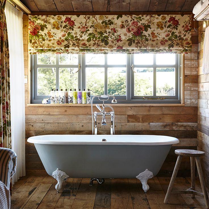 Soho Farmhouse bathroom with freestanding bath