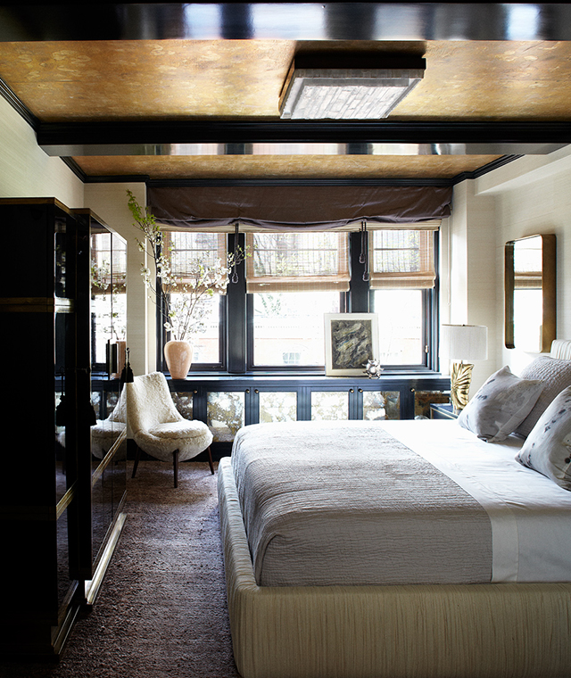 Cameron Diaz's actual bedroom. Design: Kelly Wearstler/Photo: William Abranowicz/Source: Elle Decoration