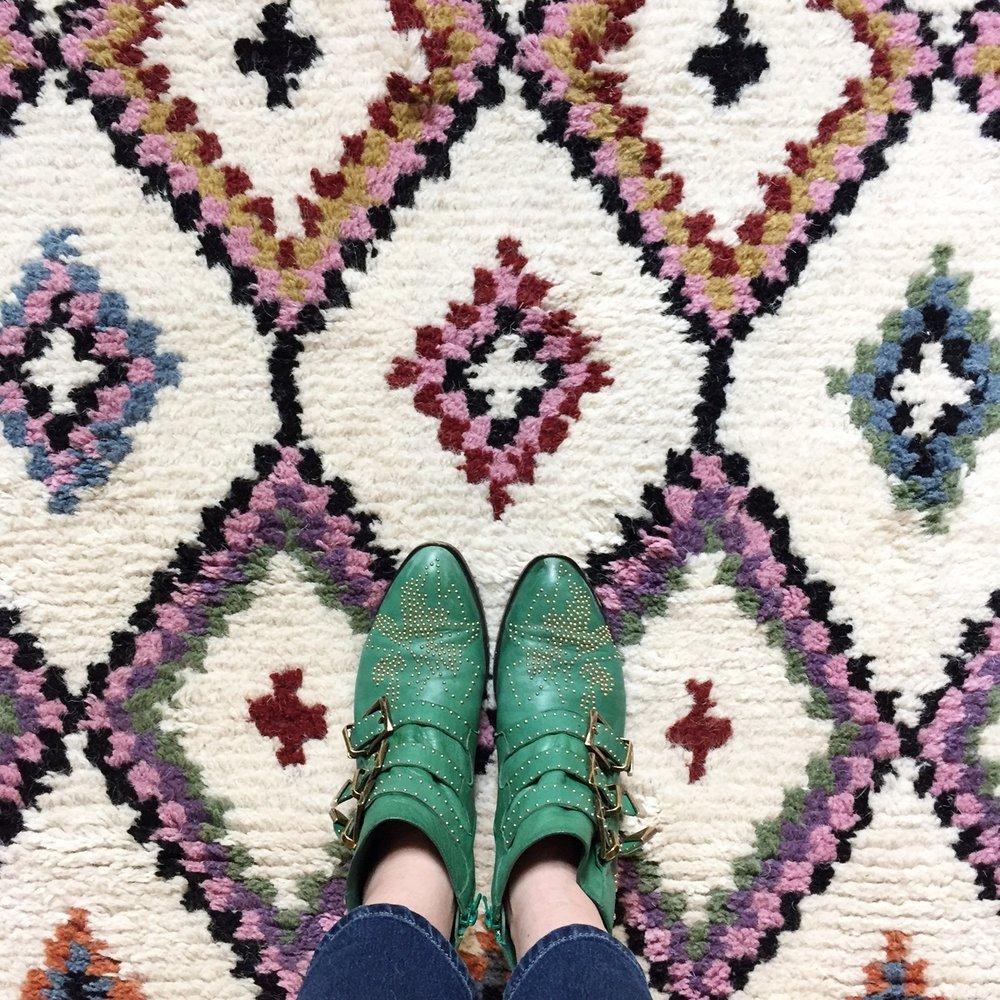 Ourika + green Chloe boots = yay