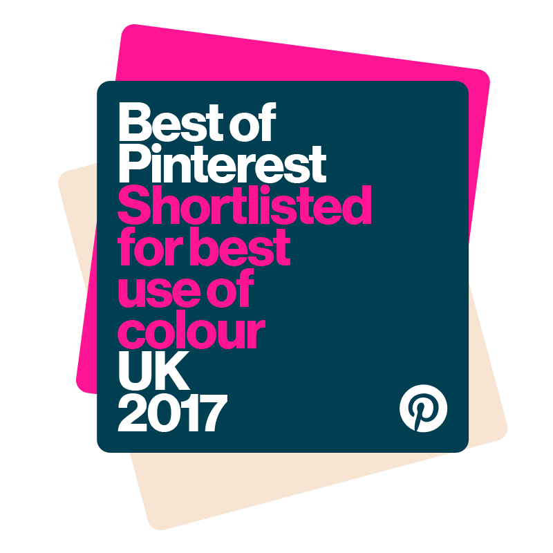 Best of Pinterest awards best use of colour 2017