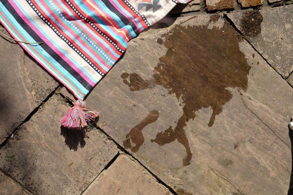 M&S picnic rug tassel detail