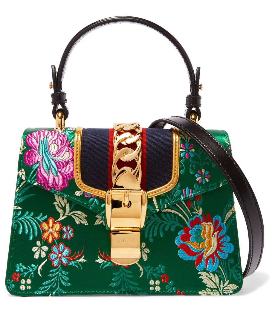 Are you cheating on Gucci's jacquard-panelled leather shoulder bag?