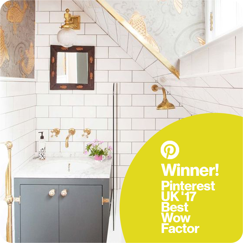 Winner Pinterest UK 17 Best Wow factor interior The Pink House bathroom