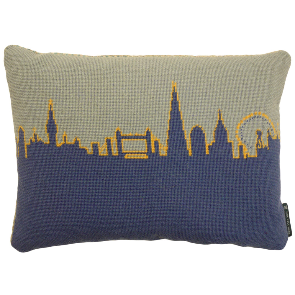 Fine Cell Work's London Skyline cushion