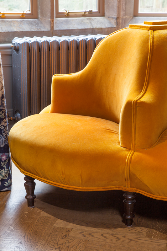 Victorian conversation piece upholstered in Turnell & Gignon velvet/Photo: Susie Lowe
