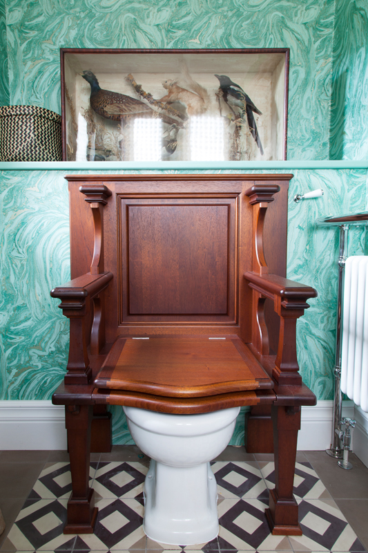 Even the Queen would use this Catchpole & Rye throne loo/Photo: Susie Lowe