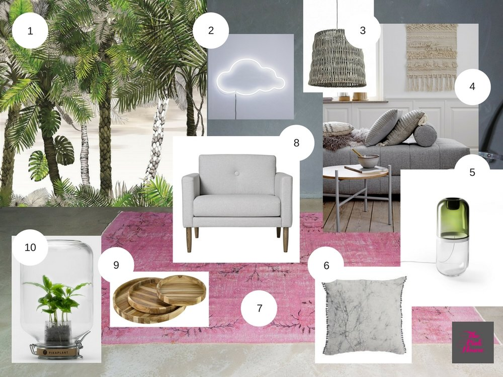 Scandi Boho mood board by The Pink House