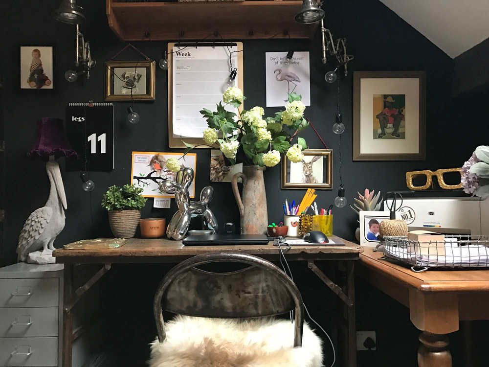 Nicola's study: 1000% nicer than her bloke's man cave