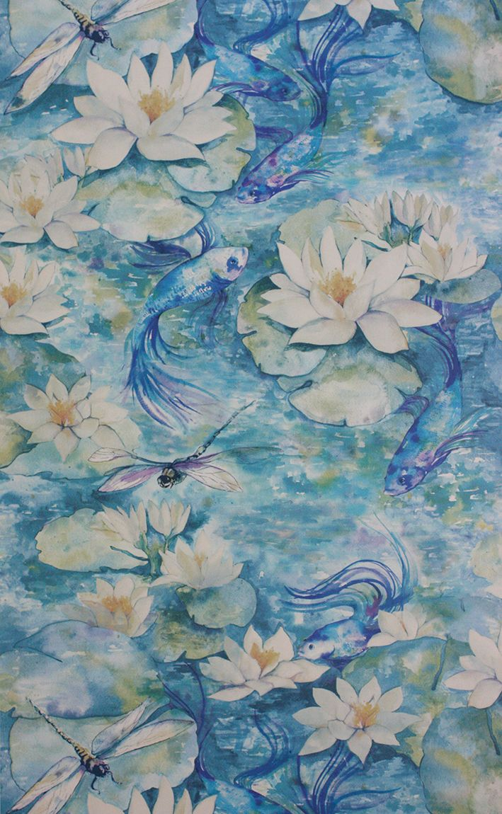 Matthew Williamson at Osborne & Little Water Lily wallpaper