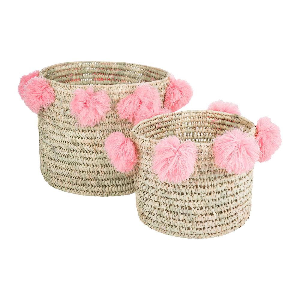 A by Amara Bahia pom pom baskets