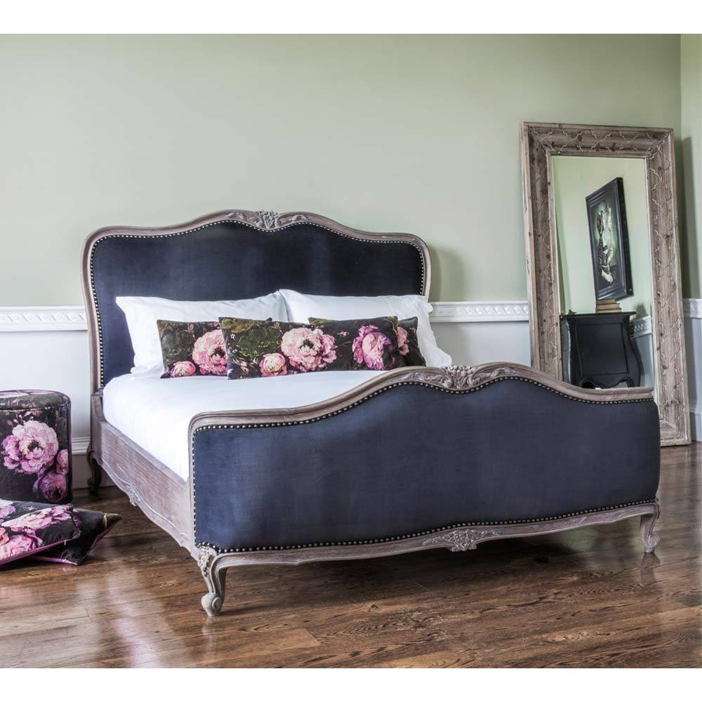The French Bedroom Company Montmartre black velvet bed