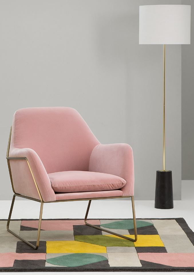 Made.com blush pink Frame armchair