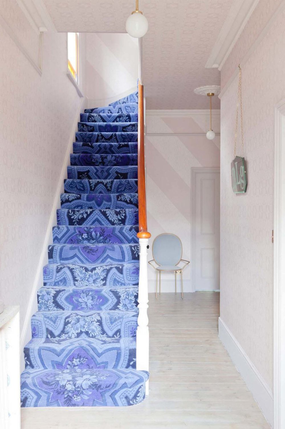 Jordan and Russell's hallway has had the full 2LG treatment from top to bottom/Photo: Megan Taylor
