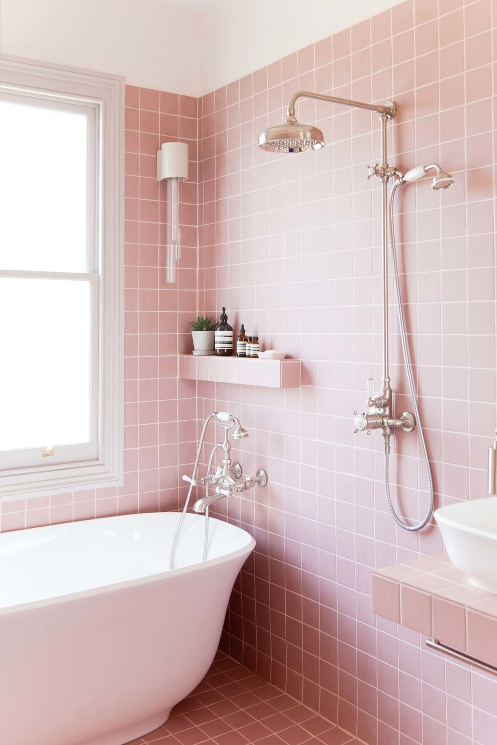 The boys' pink bathroom of dreams/Photo: Megan Taylor