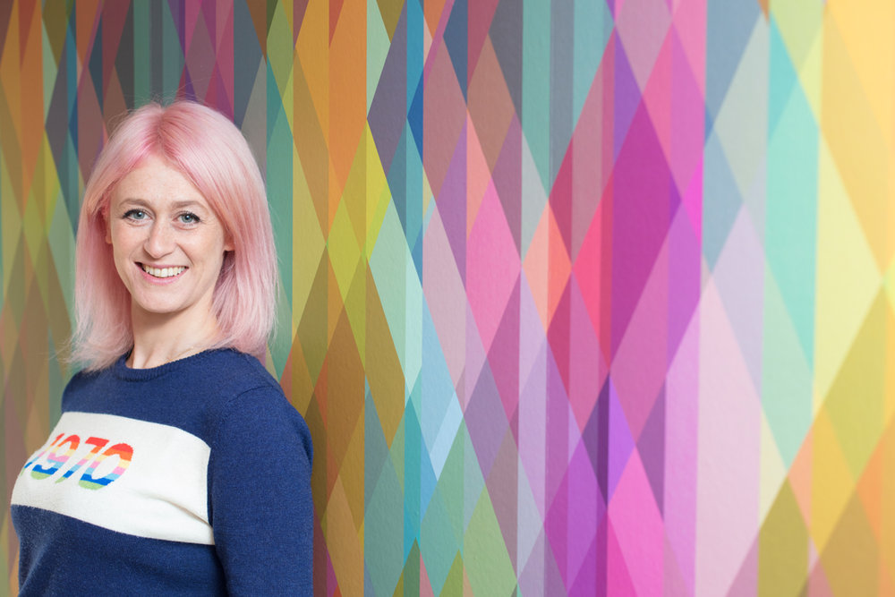Me and my Cole & Son Prism wallpaper - definitely a home decor 'do'