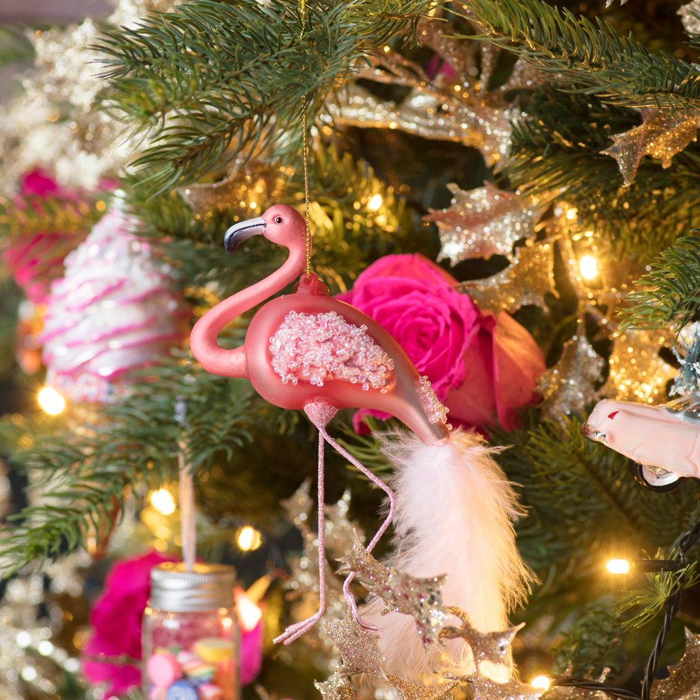 Flamingo Christmas tree decoration from Amara