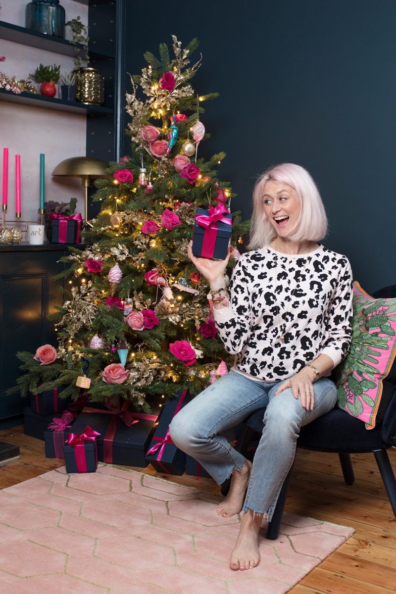 Emily Murray from The Pink House with her Christmas tree