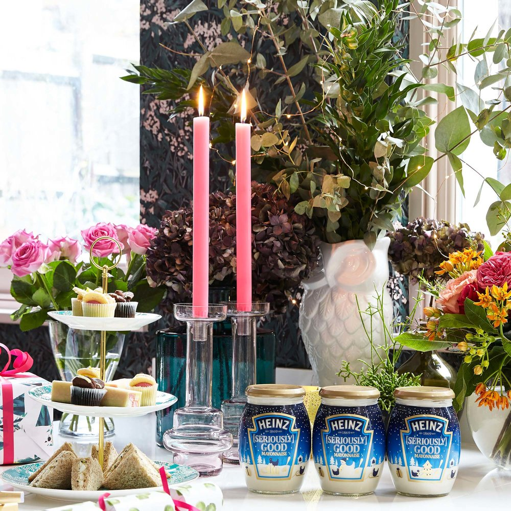 Heinz Seriously Good Mayonnaise Christmas edition on the Boxing Day afternoon tea table