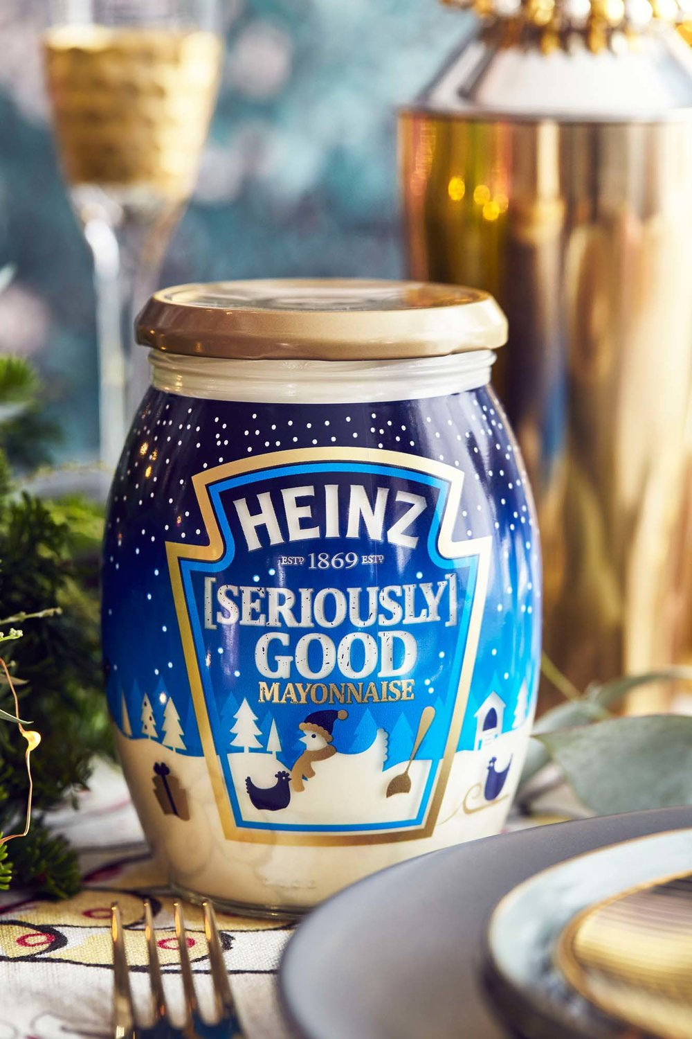 Beautiful Christmas limited edition FMCG product packaging