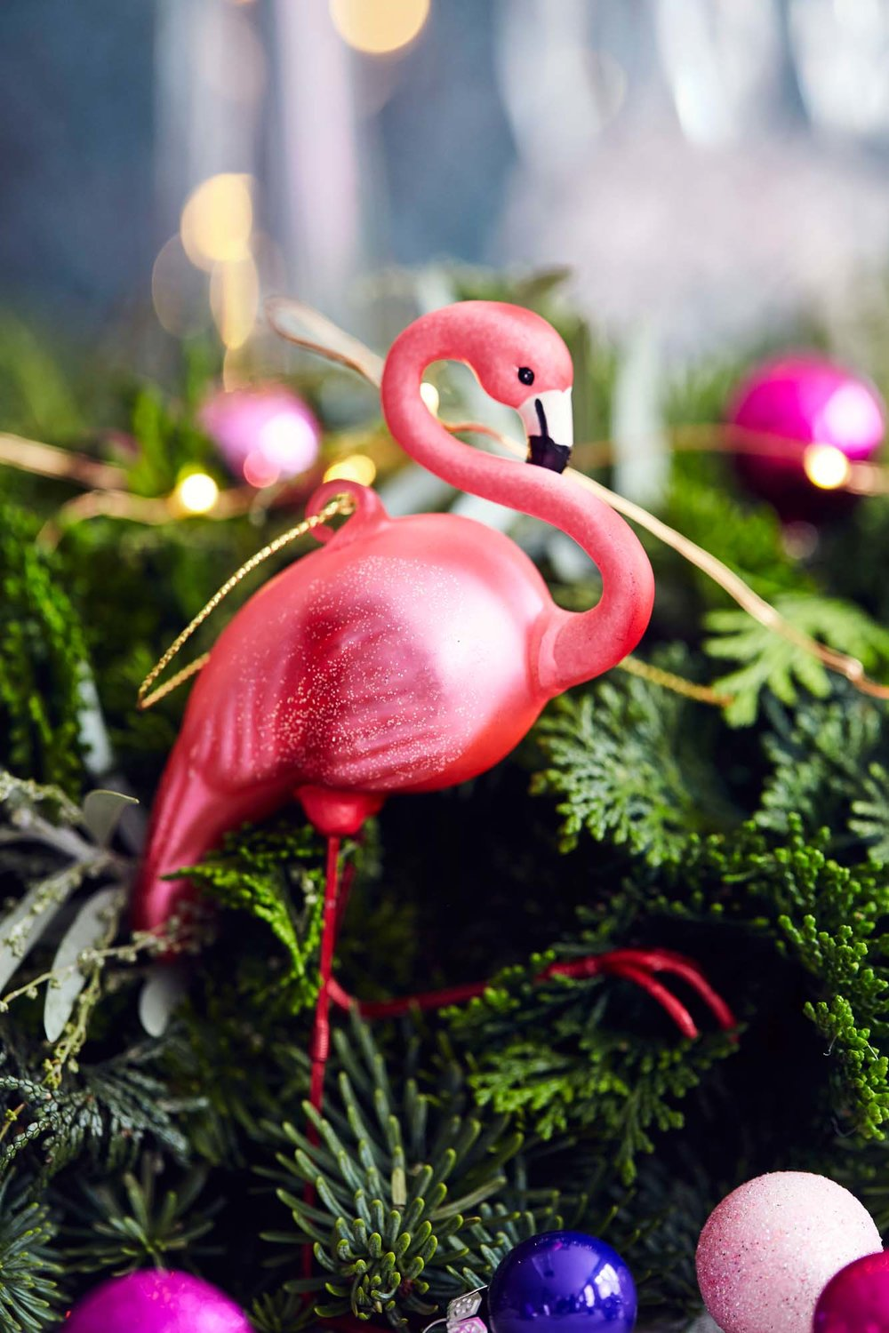 Flamingo Christmas decoration
