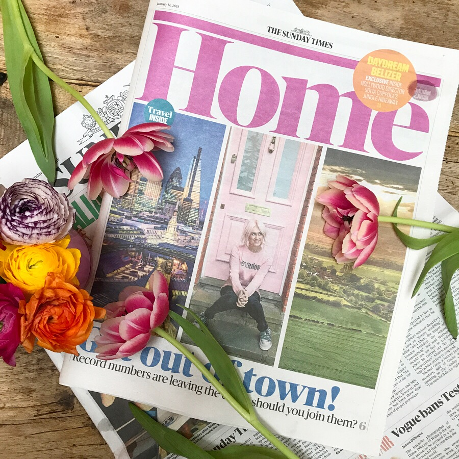 The Pink House founder Emily Murray on the cover of The Sunday Time Home supplement