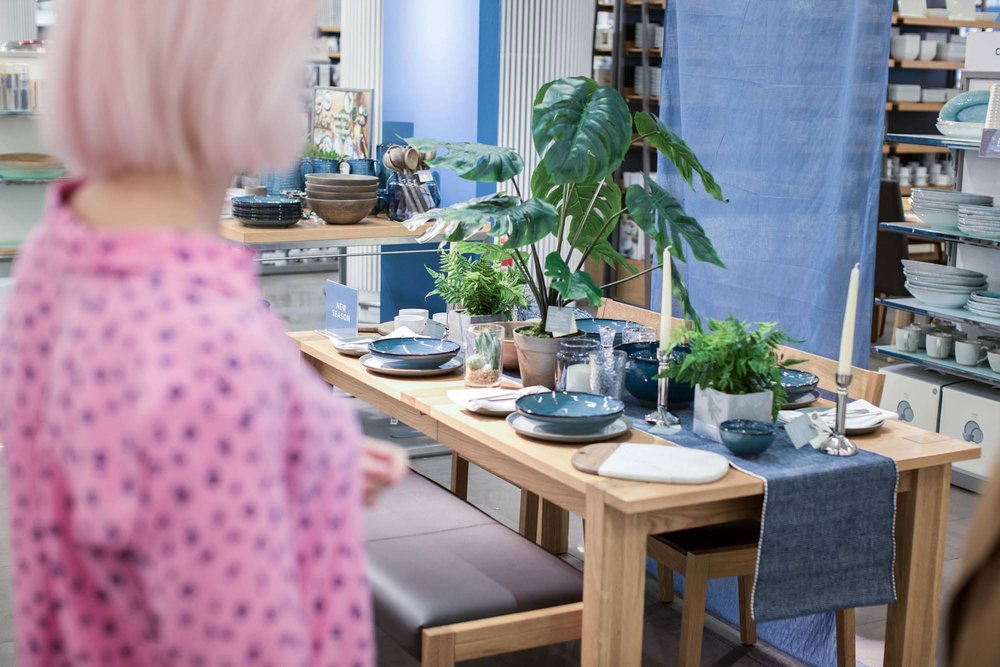 Dining table plates and styling from Marks & Spencer