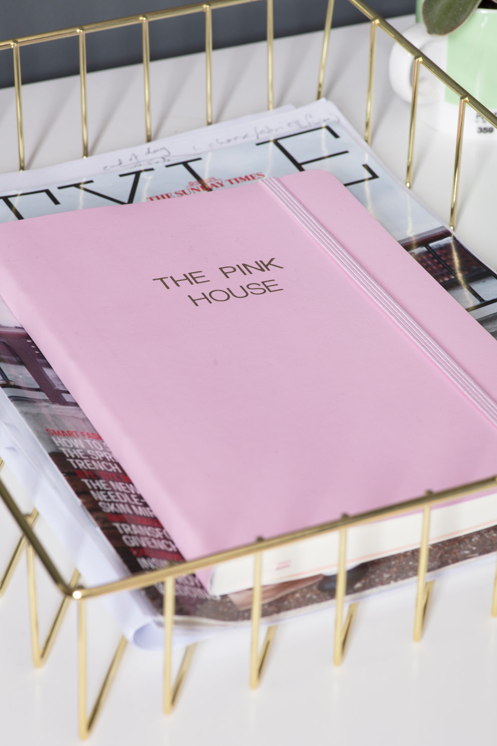 Paperchase pink personalised stationery