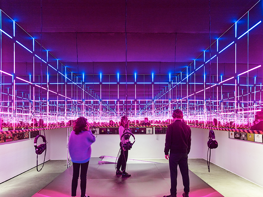 Night Fever's interactive installation by Konstantin Grcic and Matthias Singer/photo Mark Niedermann