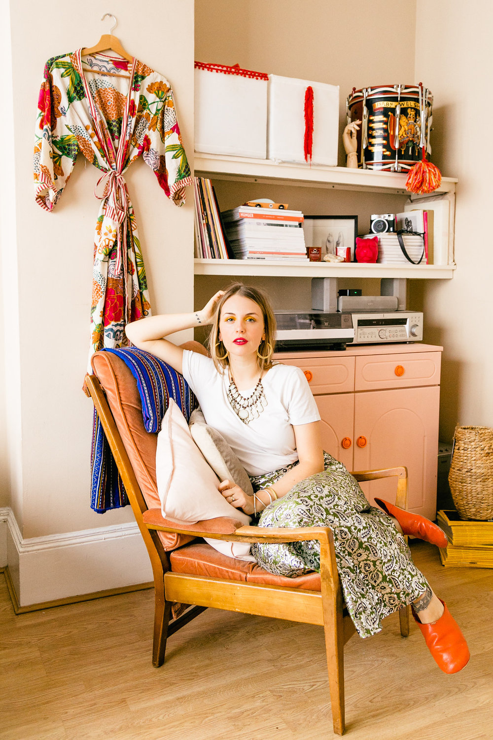 Stylist Antonia McKenzie at home