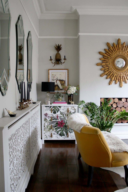 Boho glam sitting room