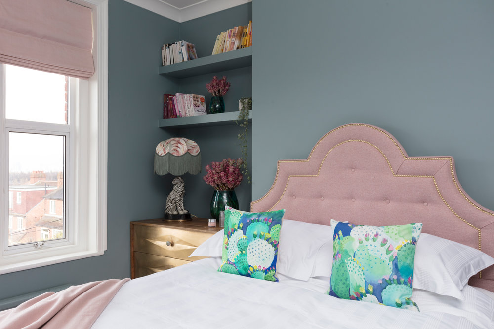 Pink and blue luxury bedroom ideas