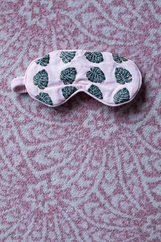 Elizabeth Scarlett pink eye mask