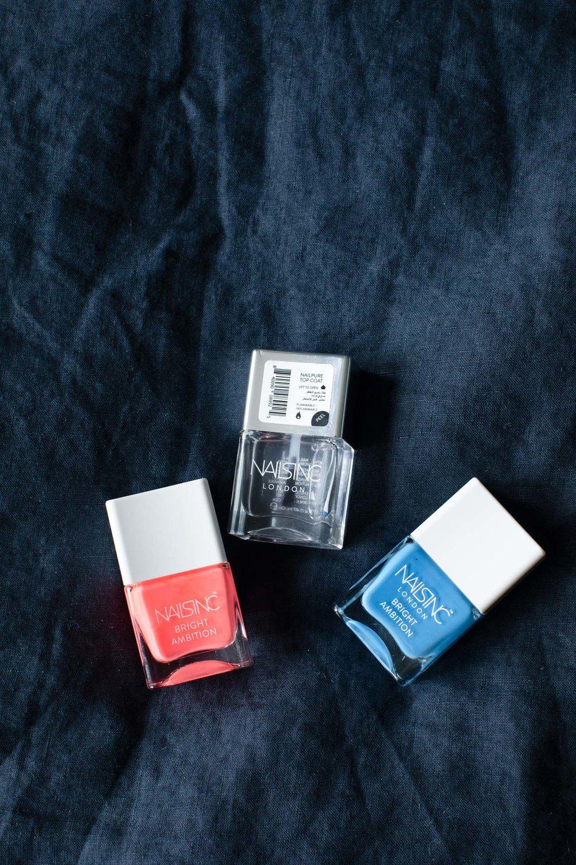 Nails Inc bright ambition neon nail varnish set