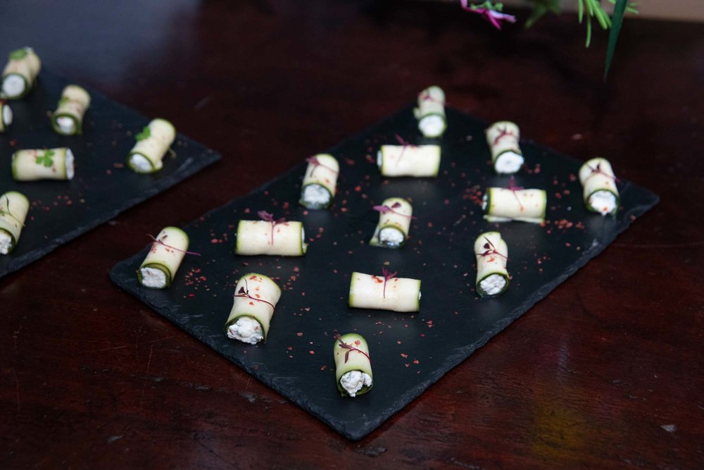 Delicious Vegetarian canapes