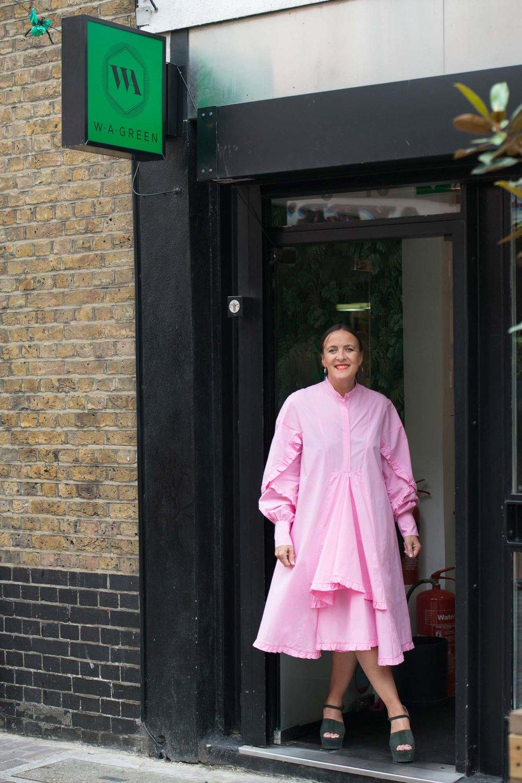 Zoe outside her fabulous boutique, W.A.Green
