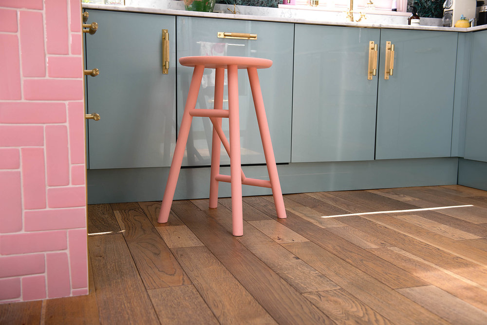A stool I painted in Painthouse's 'Ida'