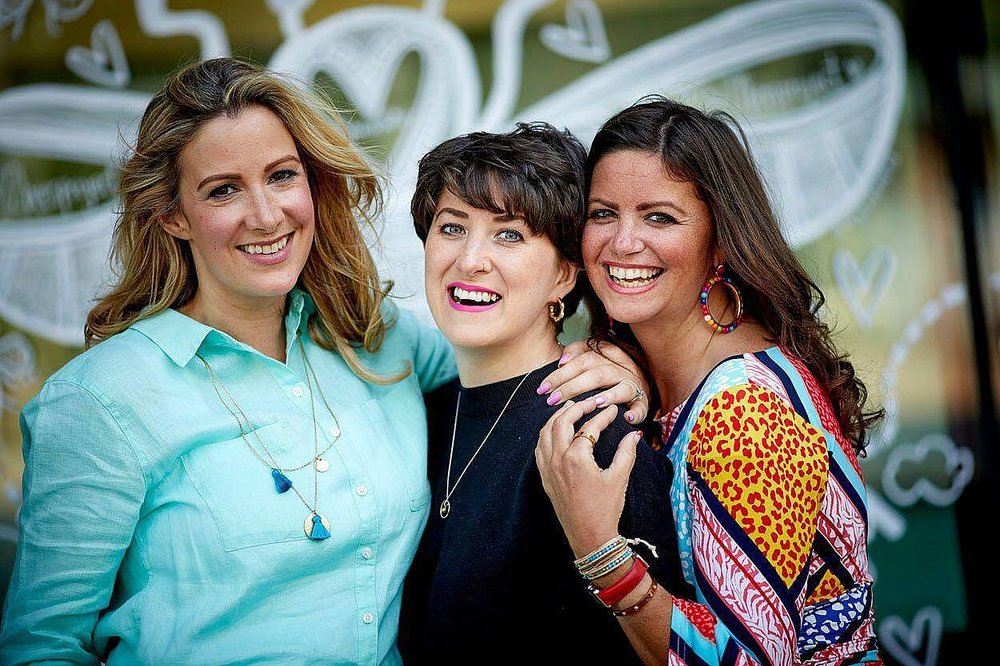 You Me and the Big C podcast with (L to R) Rachael Bland, Lauren Mahon and Deborah James