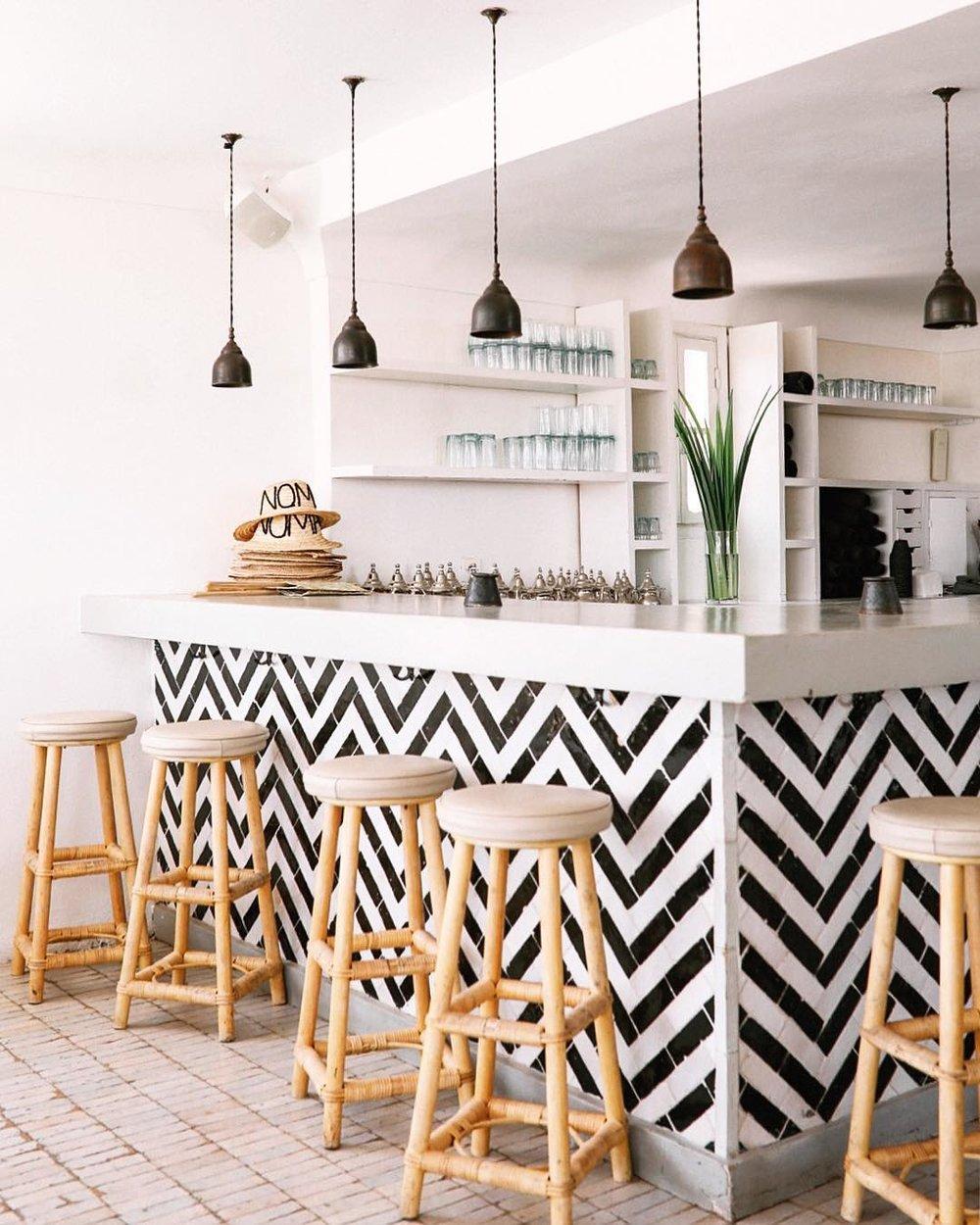 Beautiful tiling at  @nomadmarrakech
