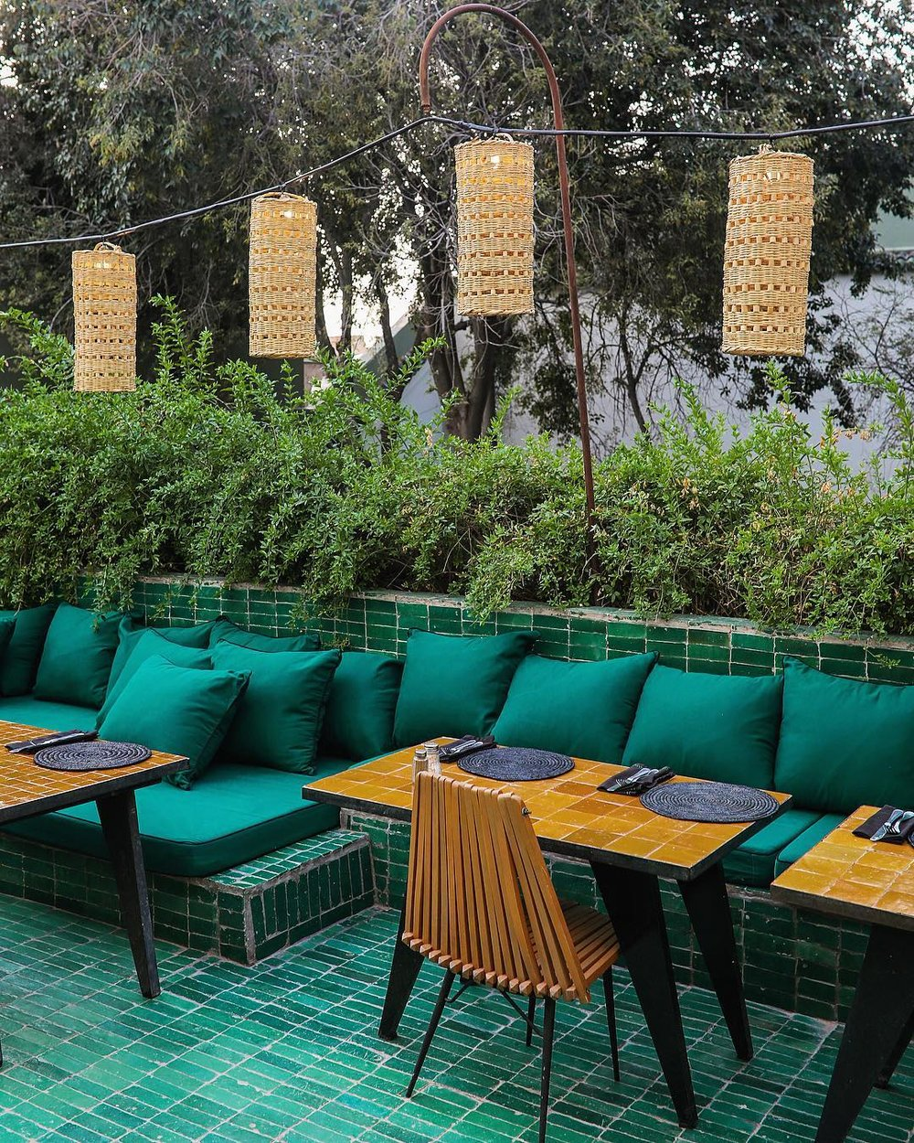 Beautiful emerald green  @lejardinmarrakech