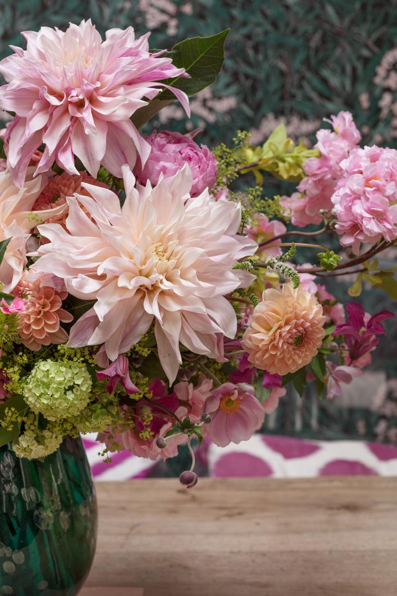 Flowers by Hayford & Rhodes in my dining room/Photo: Susie Lowe